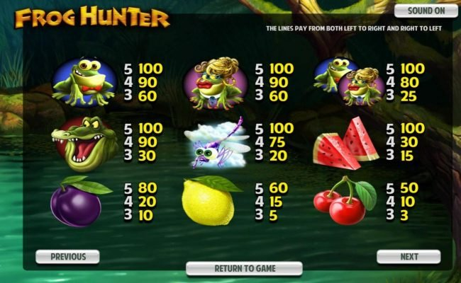 Play slots at Enzo Casino: Enzo Casino featuring the Video Slots Frog Hunter with a maximum payout of $5,000