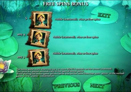 Frog Royale :: free spins bonus feature rules
