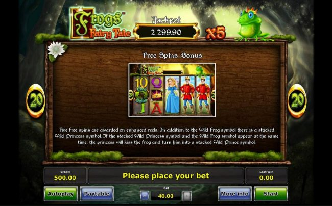 Frog's Fairy Tale :: Free Spins Bonus Game Rules