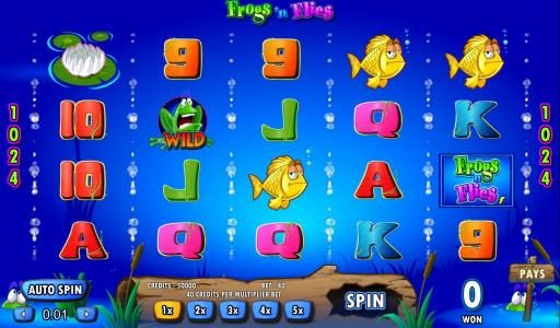 Play slots at Dream Vegas: Dream Vegas featuring the Video Slots Frogs 'n Flies with a maximum payout of $25,000