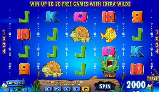 Grand Ivy featuring the Video Slots Frogs 'n Flies with a maximum payout of $25,000