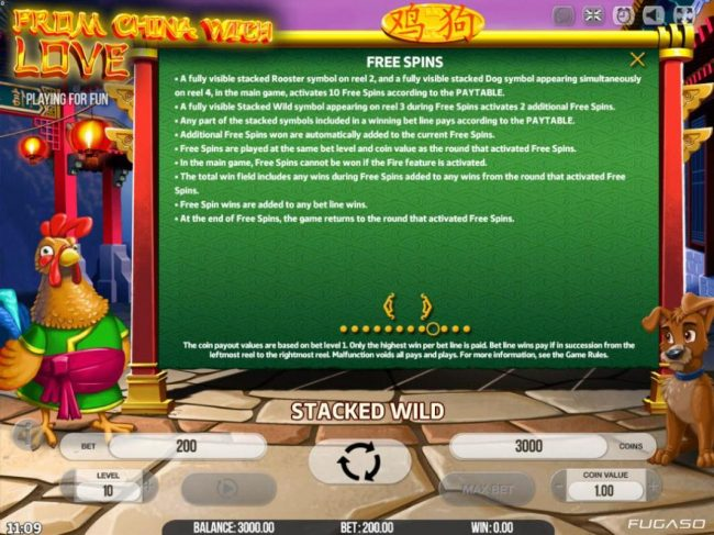 LaFiesta featuring the Video Slots From China with Love with a maximum payout of $80,000