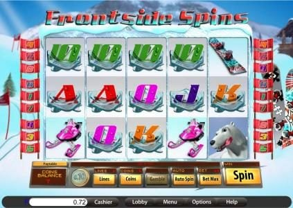 Platinum Reels featuring the Video Slots Frontside Spins with a maximum payout of $9,375