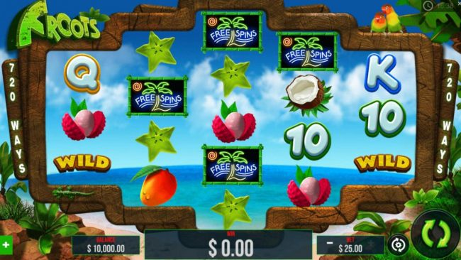 Casinia featuring the Video Slots Froots with a maximum payout of $15,000