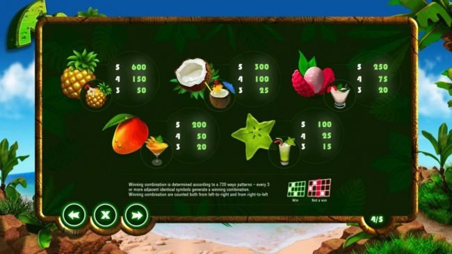 Froots :: High value slot game symbols paytable.