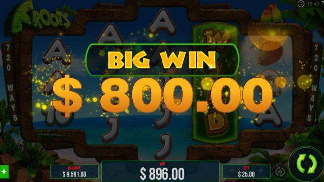 Froots :: Re-spin triggers an 800.00 big win!