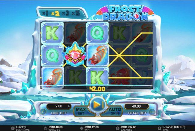 Frost Dragon :: Multiple winning paylines