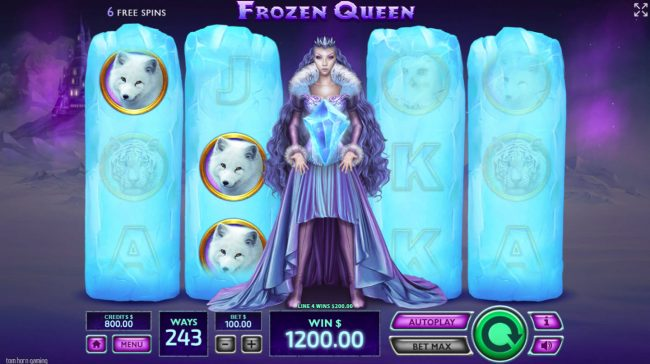 Superior featuring the Video Slots Frozen Queen with a maximum payout of $19,200