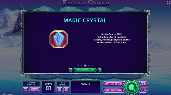 Melbet featuring the Video Slots Frozen Queen with a maximum payout of $19,200