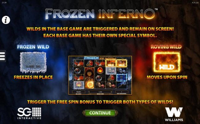 Caesars featuring the Video Slots Frozen Inferno with a maximum payout of $250,000