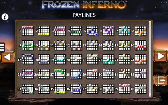Frozen Inferno :: Payline Diagrams 1-40