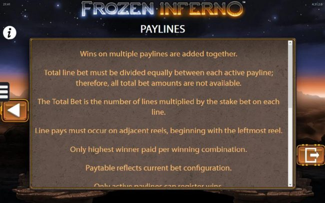 Frozen Inferno :: General Game Rules