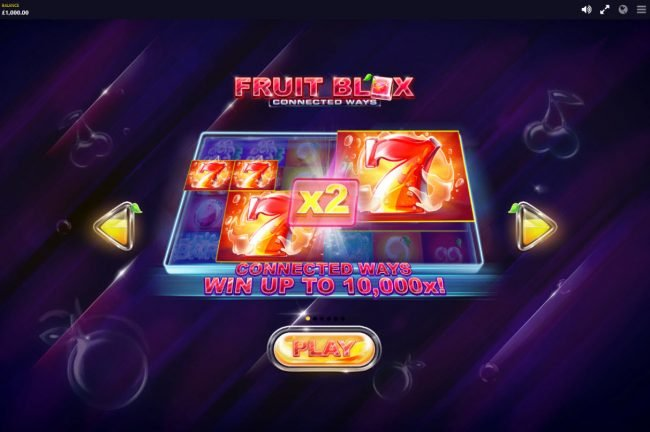 Shadowbet featuring the Video Slots Fruit Blox with a maximum payout of $100,000