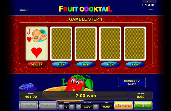 Fruit Cocktail :: Beat the Dealer Gamble Feature