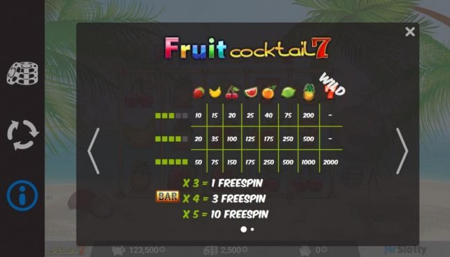 Play slots at Split Aces: Split Aces featuring the Video Slots Fruit Cocktail7 with a maximum payout of $200,000