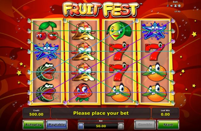 Ladbrokes featuring the Video Slots Fruit Fest with a maximum payout of $25,000