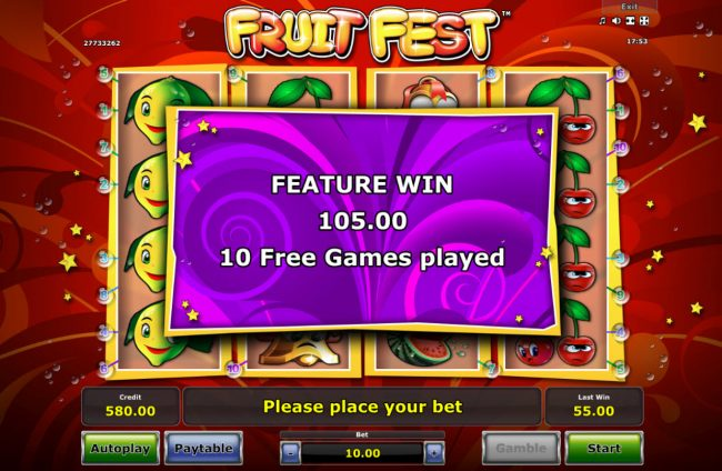 Play slots at Genting: Genting featuring the Video Slots Fruit Fest with a maximum payout of $25,000