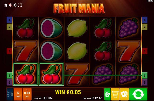 Fruit Mania :: A pair of winning paylines