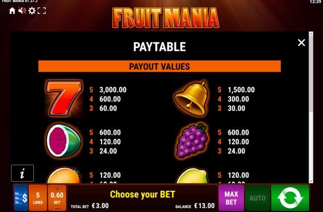 Fruit Mania :: High Value Symbols