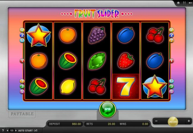 Play slots at Surf Casino: Surf Casino featuring the Video Slots Fruit Slider with a maximum payout of $8,000