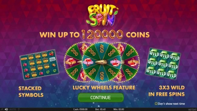 Play slots at Guru Play: Guru Play featuring the Video Slots Fruit Spin with a maximum payout of $120,000