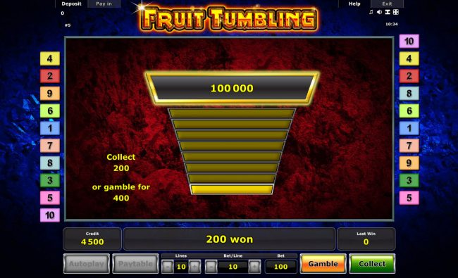 Ladder Gamble Feature Game Board