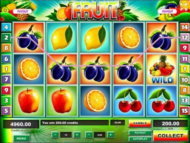 Play slots at Superior: Superior featuring the Video Slots Fruit with a maximum payout of $1,250,000