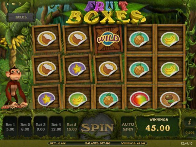 Fruit Boxes :: Multiple winning paylines