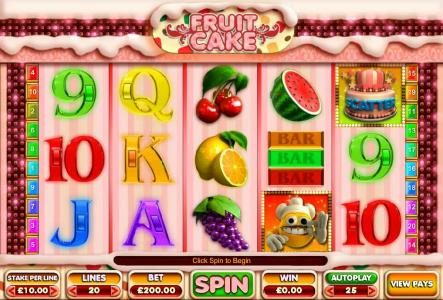 Play slots at Egypt Slots: Egypt Slots featuring the Video Slots Fruit Cake with a maximum payout of $100,000
