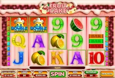 Egypt Slots featuring the Video Slots Fruit Cake with a maximum payout of $100,000