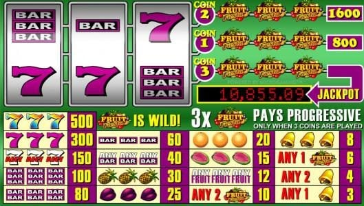 Play slots at Casino Extra: Casino Extra featuring the Video Slots Fruit Fiesta 3 Reel with a maximum payout of Jackpot