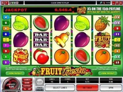 Winner Million featuring the Video Slots Fruit Fiesta 5 Reel with a maximum payout of Jackpot