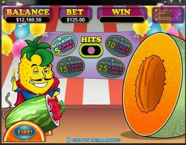 Slots of Vegas featuring the Video Slots Fruit Frenzy with a maximum payout of $250,000