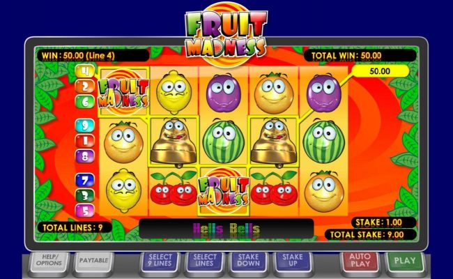 21 Nova featuring the Video Slots Fruit Madness with a maximum payout of $30,000