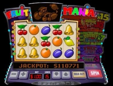 Winaday featuring the Video Slots Fruit Mania with a maximum payout of $6,000