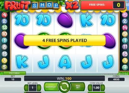Playamo featuring the Video Slots Fruit Shop with a maximum payout of $40,000