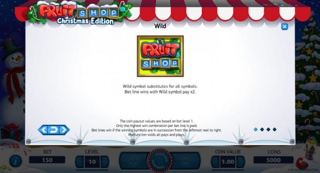LaFiesta featuring the Video Slots Fruit Shop Christmas Edition with a maximum payout of $80,000