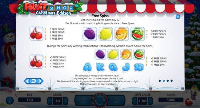 Spinzilla featuring the Video Slots Fruit Shop Christmas Edition with a maximum payout of $80,000
