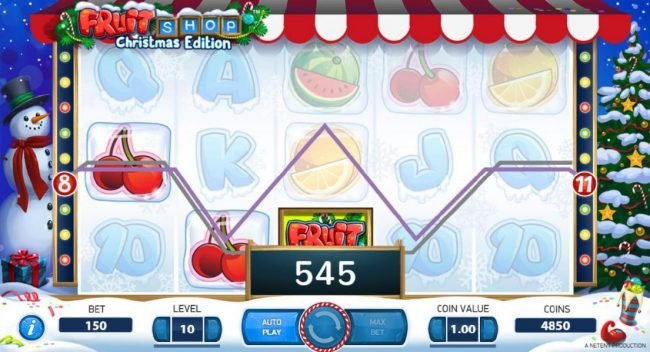 Simba Games featuring the Video Slots Fruit Shop Christmas Edition with a maximum payout of $80,000