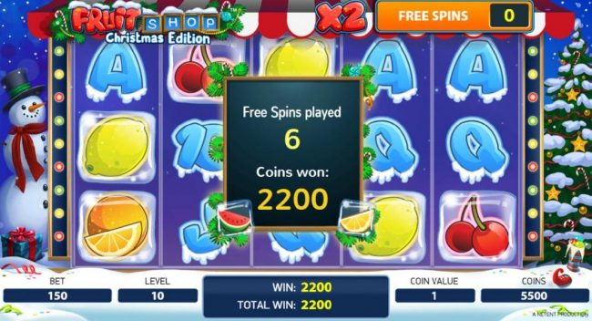 Trada featuring the Video Slots Fruit Shop Christmas Edition with a maximum payout of $80,000