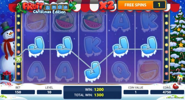 Coral featuring the Video Slots Fruit Shop Christmas Edition with a maximum payout of $80,000