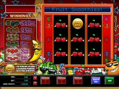 Players Palace featuring the Video Slots Fruit Smoothies with a maximum payout of $5,000