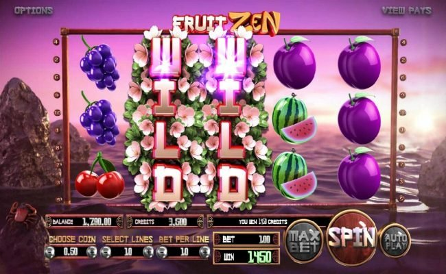 Fruit Zen :: After landing the first expanded wild on the 3rd reel, the following re-spin produced another expanded wild on the 2nd reel leading to a big win. Game pays both ways.