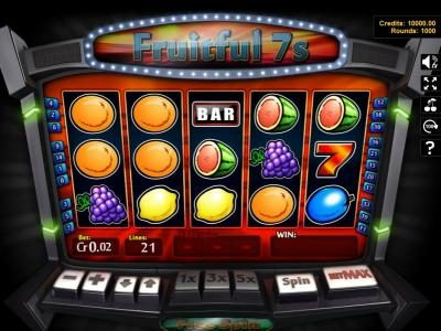 Winaday featuring the Video Slots Fruitful 7s with a maximum payout of $250
