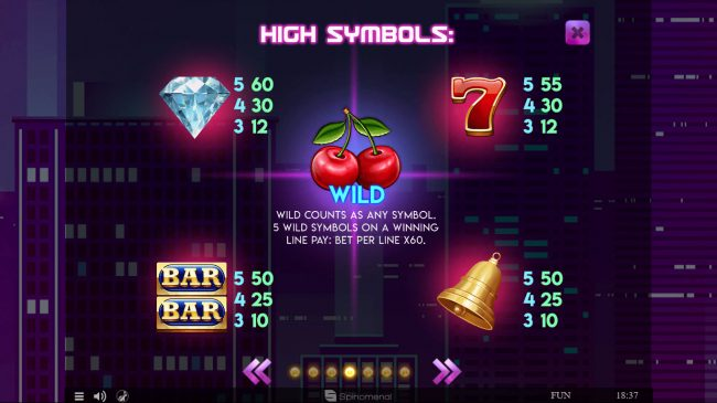 24 Vip featuring the Video Slots Fruits Deluxe with a maximum payout of $15,000