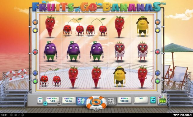 Play slots at Abo Casino: Abo Casino featuring the Video Slots Fruits Go Bananas with a maximum payout of $10,000