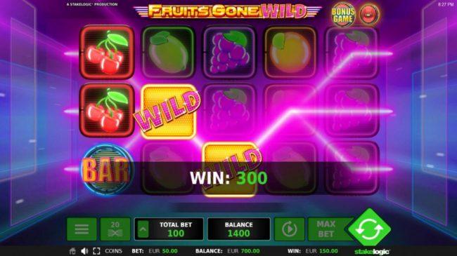 Fruits Gone Wild :: 3 winning paylines