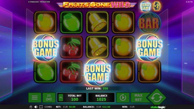 Fruits Gone Wild :: Bonus game triggered
