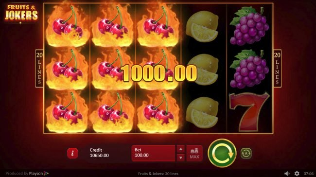Diamond Club VIP featuring the Video Slots Fruits & Joker with a maximum payout of $200,000