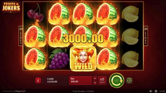 All Wins Casino featuring the Video Slots Fruits & Joker with a maximum payout of $200,000